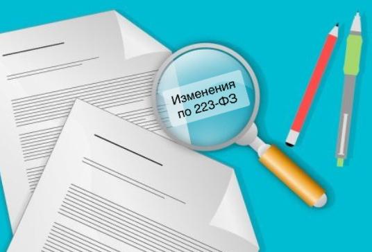 Изменения в Федеральном законе № 223-ФЗ
